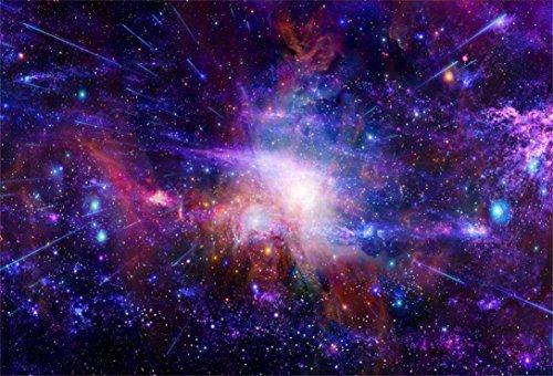 AOFOTO 8x6ft Nebula Starry Sky Backdrop Cosmic Galaxy Photography Background Universe Starlit Outer Space Science Fiction Photo Studio Props Video Drop Vinyl Wallpaper Kid Adult Artistic Portrait