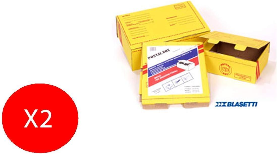 Blasetti - Caja postal grande, 35 x 20 x 12 cm, 2 cajas: Amazon.es: Oficina y papelería