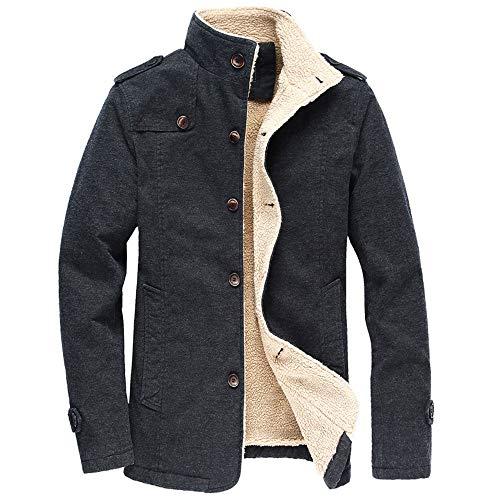 - WEEN CHARM Mens Sherpa Lined Fleece Cotton Shearling Trucker Jacket Fall Winter Windproof Warm Jacket