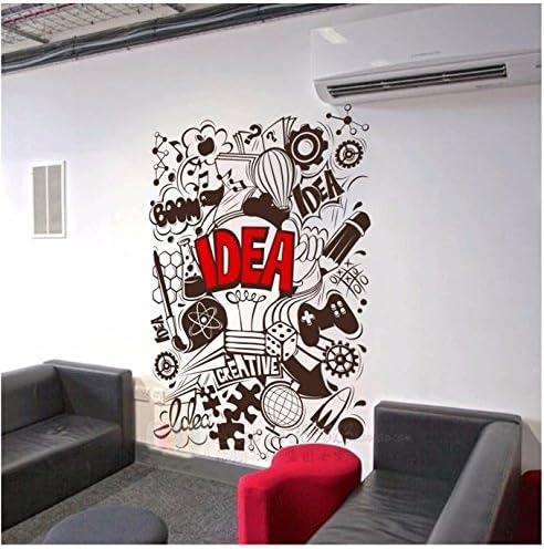 Hccy Grands Stickers Muraux De Graffiti Mur De Bureau De La