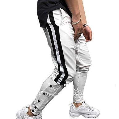junkai Hombres Jogging Pantalones De Chándal Pantalones Harem ...