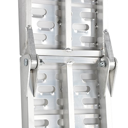 Motorhot 2 Pcs 7.5'ft Aluminum Folding Loading Ramps Top for Lawnmower ATV Truck Motorcycle Ramp Silver 1500lbs Capacity by Motorhot (Image #5)