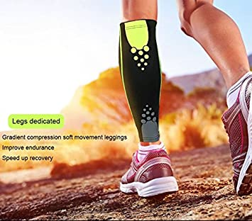 1PCS Basketball Football Leg Sleeves Calf Compression Running Cycling Shin Guards UV-Protector Soccer Fitness