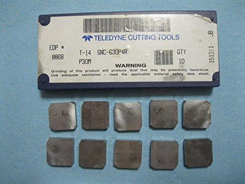 10 PCS T 14 SNC 63D P4R P30M TELEDYNE CARBIDE INSERTS EDP# 8868 MILLING TOOLS