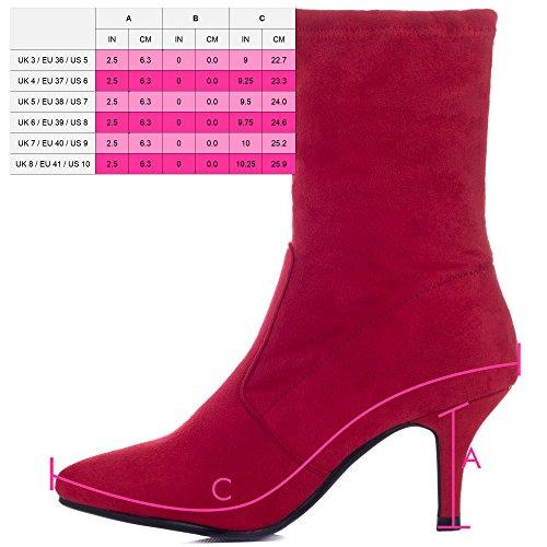 Spylovebuy Femmes Talon Forever Daim Bottines Joy À Chaussures Rouge Aiguille Simili xIFr5Iwq