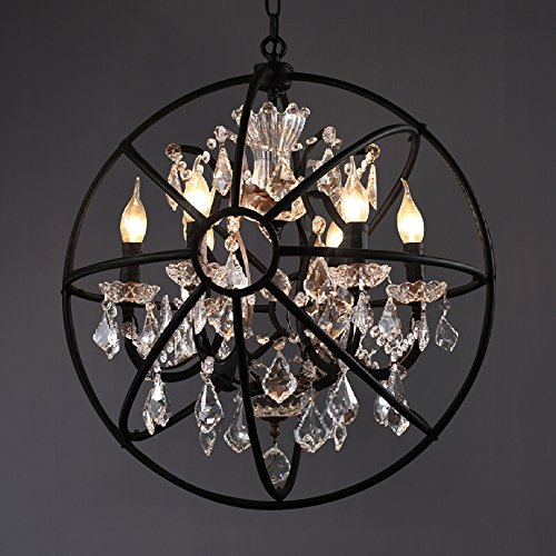 Black Wrought Iron Pendant Light in Florida - 4