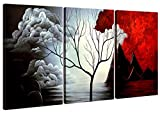 Home Art - Abstract Art Giclee Canvas Prints Modern Art Framed Canvas Wall Art for Home Decor Perfect 3 Panels Wall Decorations Abstract Paintings for Living Room Bedroom Dining Room Bathroom Office