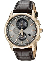 Citizen Mens Eco-Drive World Chrono Atomic Timekeeping Watch with Day/Date, AT8113-04H