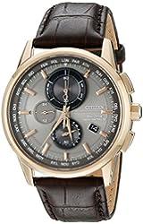 Citizen Men's AT8113-04H World Chronograph A-T Analog Display Japanese Quartz Silver Watch