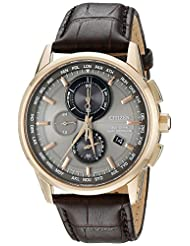 Citizen Men's World Chronograph A-T AT8113-04H Wrist Watches, Grey Dial
