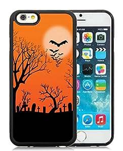Individualization iPhone 6 Case,Halloween Black iPhone 6 4.7 Inch TPU Case 8