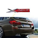 Xotic Tech 1x Black X Drive Car Trunk Lid Fender Body Emblem Sticker For BMW X1 X3 X5 X6 (Red)