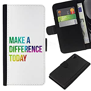 All Phone Most Case / Oferta Especial Cáscara Funda de cuero Monedero Cubierta de proteccion Caso / Wallet Case for Sony Xperia Z2 D6502 // BIBLE Make A Difference Today