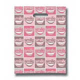 Practicon 11096106 All Smiles Scatter Print Bags, 8'' x 10'' (Pack of 100)