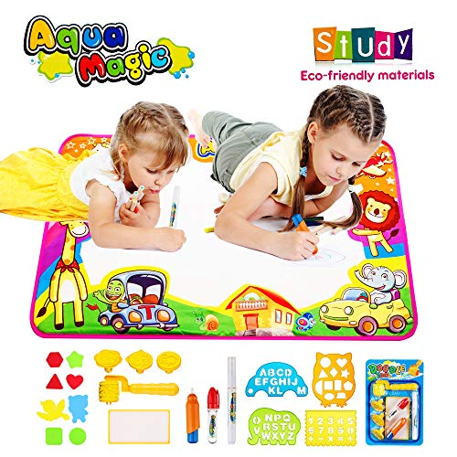 Zmomequ Aqua Magic Doodle Mat, Toddler Educational Toys ,Water Drawing Mat Toys Gift for Boy Girl Toddlers Age 1- ()