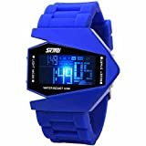 Military Cool Colorful Light Digital Sport Water-proof Stealth fighter Style Wrist Watches -A