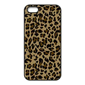 Fashionable Leopard Print Protective Rubber Back Fits Cover Case for iPhone 5 5s