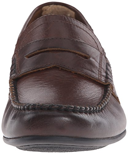 Frye Mens Lewis Penny Mocassino In Pelle Vintage Marrone Scuro Morbido - 80267