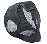 JustBBGuns Airsoft Full Face+Ear Protection Fencing Mask