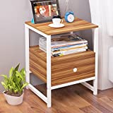 Simple modern storage cabinet Bedroom bedside cabinet Drawer nightstand Assembly small cabinet Creative mini locker Storage shelf with bin drawer-C