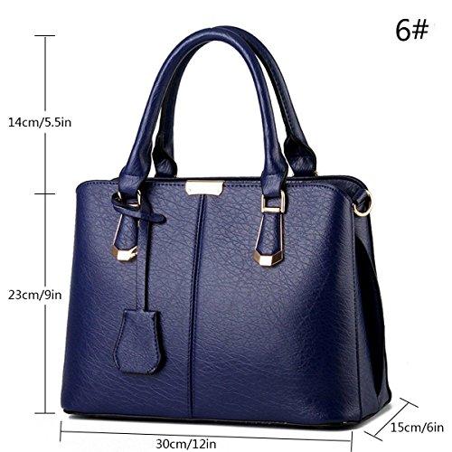 TM Messenger PU Handbag Womens Casual niceEshop Royalblue Shoulder Leather Bags C6H6vn