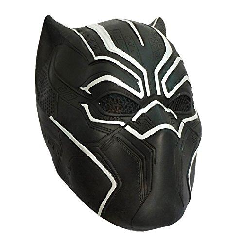Black Panther Mask Infinity War Halloween Costume Latex Mask (Quality Street Costume)