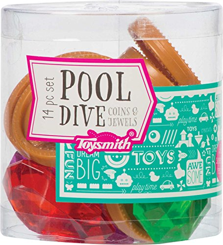 Toysmith Pool Dive Coins and Jewels 14 Piece Toy Set Colors Vary