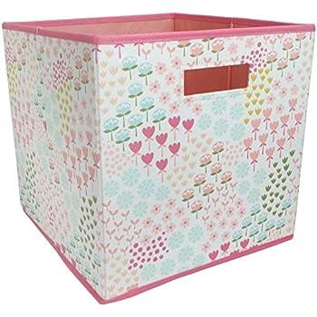 Amazon Com Butterfly Fabric Cube Storage Bin 13x13