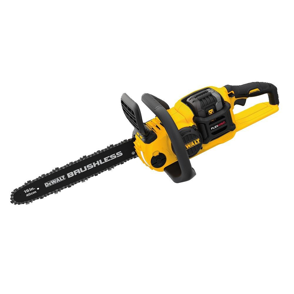 6.DEWALT DCCS670X1 FLEXVOLT 60V MAX Lithium-Ion Brushless Cordless Chainsaw Kit