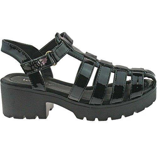 Lelli Kelly LK7477 (FB01) Black Paint Vivian Closed Toe Sandals-38 (UK 5)