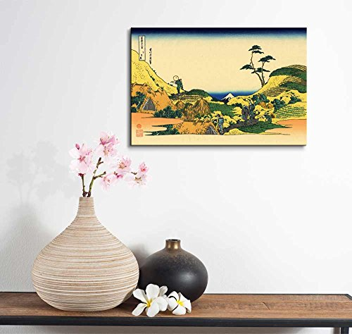 Wll Art Below Meguro by Japanese Artist Hokusai Thirty six Views of Mount Fuji Series and Stretched