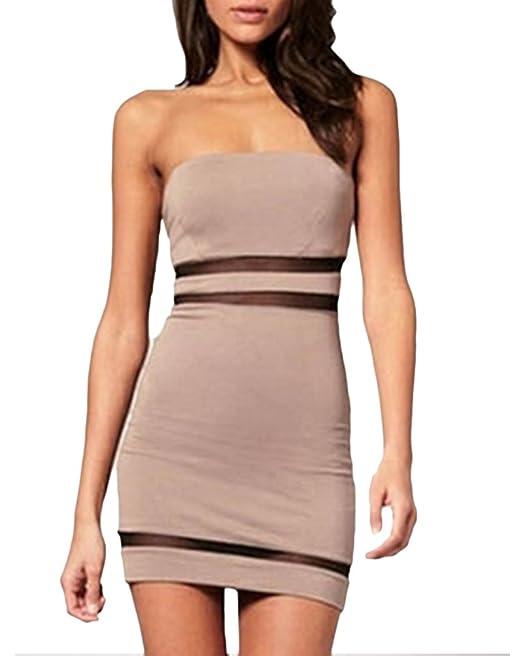 Mini Vestido Mujer Elegantes Vestido Verano Espalda Descubierta Vestido Sencillos Especial Bandage Vestido Ajustado Vestido Skinny Splice Gasa Moda Joven ...