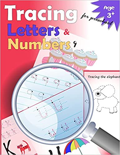 amazoncom tracing letters and numbers for preschool kindergarten tracing workbooktrace letters workbookletter tracing workbookand numbers for