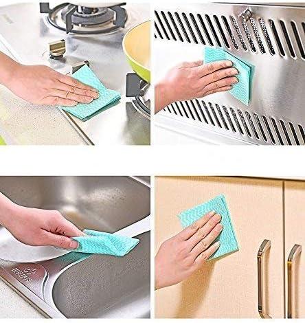 2 Rollo Trapo desechable Limpieza Desechable para Trapos de Cocina ZONEFR 100 Unids Trapo Absorbente para Lavar Platos y Limpiar Cocinas