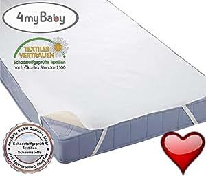 4myBaby especial tecnología protectora impermeable protector de colchón impermeable de muletón para colchón (100% algodón) 80 x 190 cm