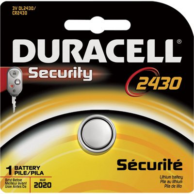 Duracell Lithium 3V 2430 Specialty Battery - Single Pack, Model# DL2430BPK