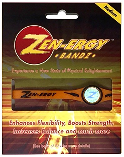 Power Wristbands - ZEN-ERGY Balance Bands - for Power, Strength, Agility, Focus, Well Being, Positive Energy Flow (Medium (190mm), Orange Band with Black)