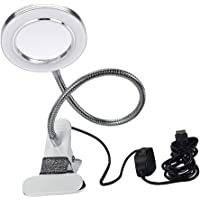 MagiDeal USB Loeplamp Loeplamp Vergrootglazen Verlichting Daglichtlamp Vergroting Met Beugel 2 Helderheidsniveaus