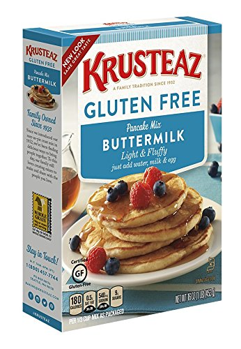 Krusteaz Gluten Free Buttermilk Pancake Mix, 16-Ounce Boxes (Pack of ()