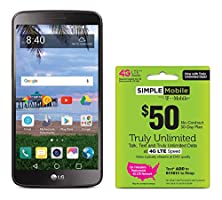 Simple Mobile LG Stylo 3 4G LTE Prepaid Smartphone with Free $50 Unlimited Bundle