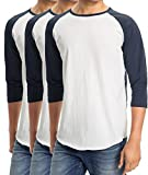 Best Hollywood Star Fashion Baseball Tees - Men's Plain Baseball Athletic 3/4 Sleeve 100% Cotton Review
