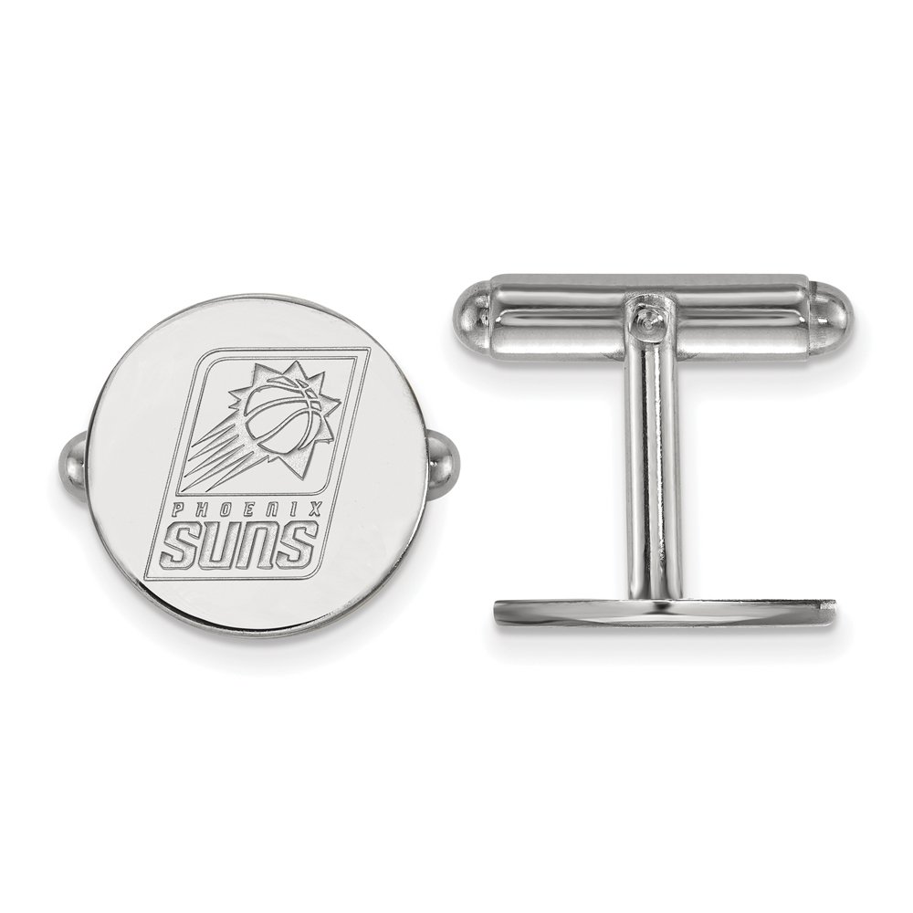 NBA Phoenix Suns Cuff Links in Rhodium Plated Sterling Silver