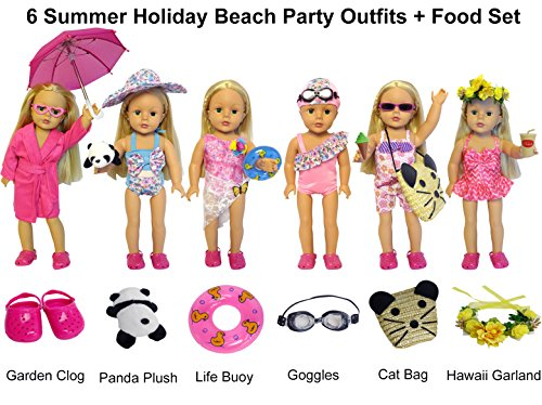 27-Piece 18 inch Doll Clothes and Accessories - American