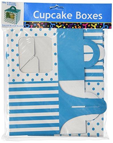 Turquoise Polka Dot Cupcake Boxes (12 pc)]()