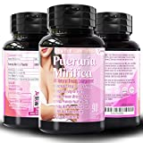Natural Pueraria Mirifica Daily 2000mg Capsules - Breast Enhancement Pills for Women - Breast Enlarger, Vaginal Health, Menopause Relief, Skin & Hair Health 90 Vegetarian Capsules