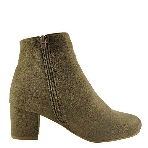 Autumn Bamboo Booties Wrapped Womens Heel Block 01S Zipper Taupe FqqPdwf