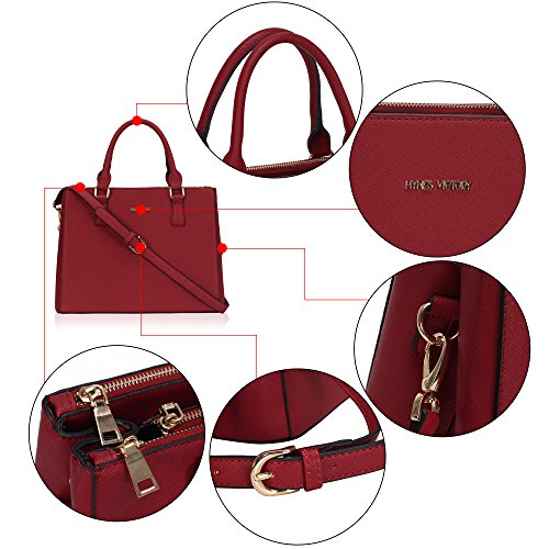 in Black Tote Bags Grey Fashion for Shoudler Veevan Handbags Elegant frame Women Red B qSgwA6xF
