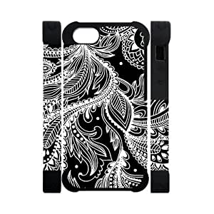 Canting_Good Ethnic Tribal Custom Case Shell Skins for 3D iPhone 5 TPU (Laser Technology)