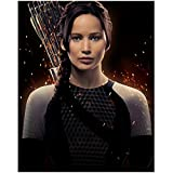 Katniss Everdeen In Black and White Body Suit with Sparks Flying - Hunger Games - 8x10 Photograph / Photo - Jennifer Lawrence