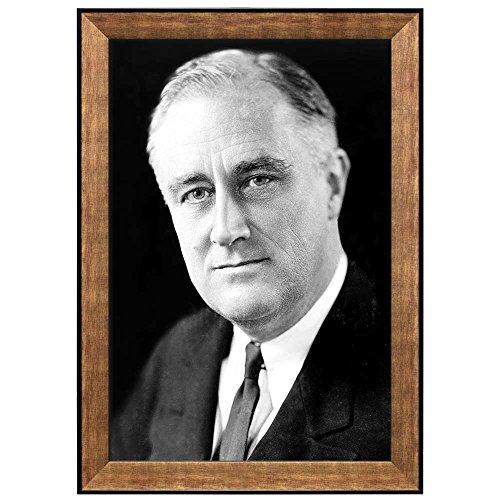 Portrait of Franklin D Roosevelt (32th President of the United States) American Presidents Series Framed Art Print